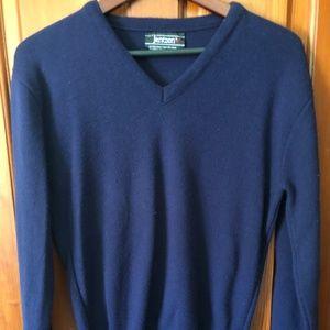 SALE Jantzen Mens V Neck Navy Sweater Size L